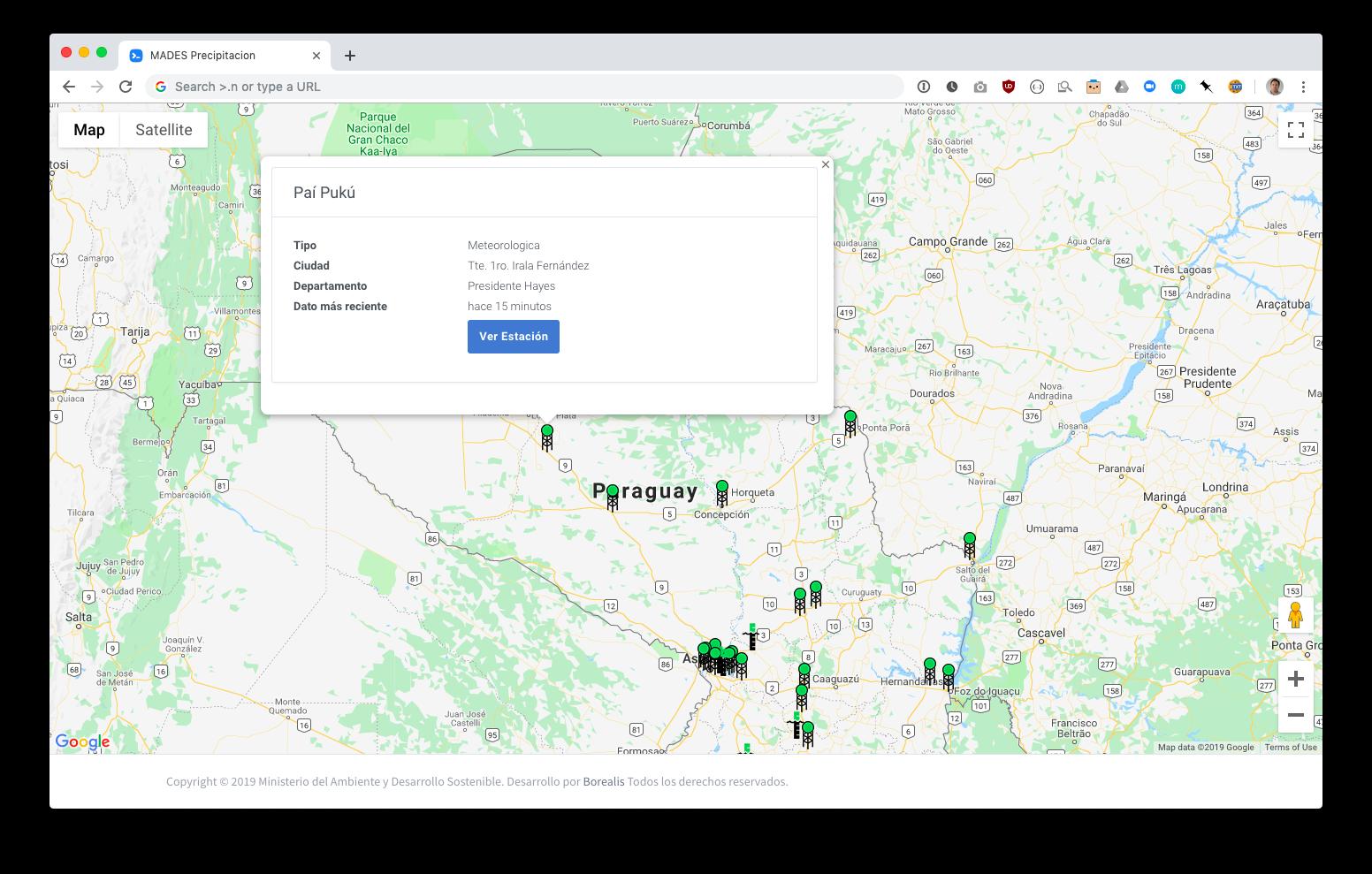 Aplicación Web Monitoreo de Ríos MADES