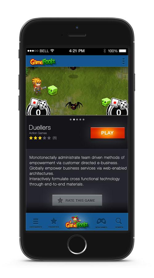 App Móvil GameFoolz