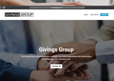 Sitio Web Givings Group