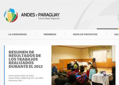 Sitio Web Comunidad Regional Andes y Paraguay