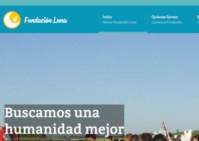 Sitio Web Fundación Luna