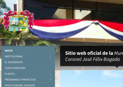 Sitio Web Municipalidad de Coronel Bogado