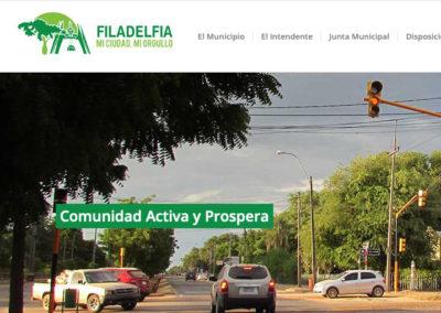 Sitio Web Municipalidad de Filadelfia