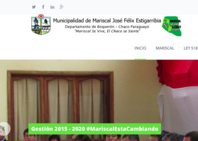 Sitio Web Municipalidad de Mariscal Estigarribia