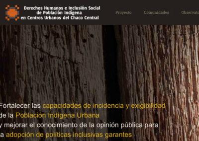 Sitio Web Derechos Humanos e Inclusión Social de Población Indígena en Centros Urbanos del Chaco Central