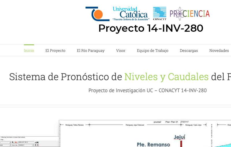 Sitio Web Pronóstico de Niveles y Caudales del Río Paraguay