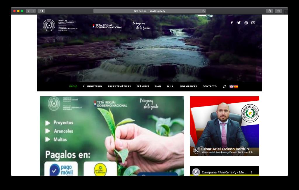 Sitio Web MADES