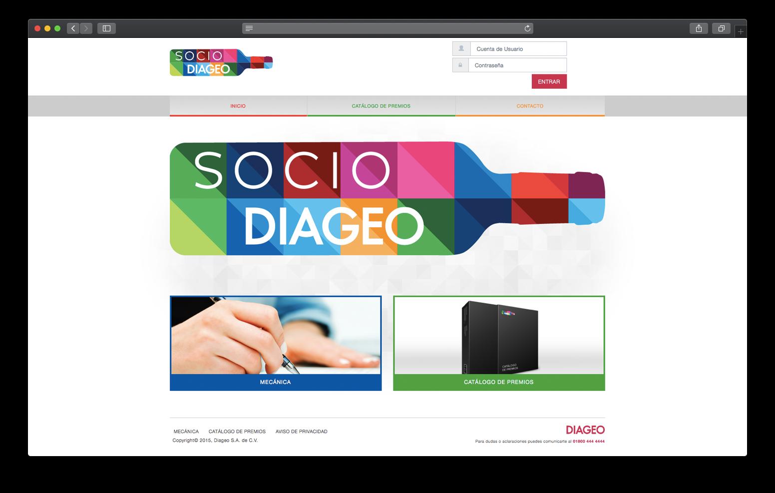 Aplicación Web Socio Diageo