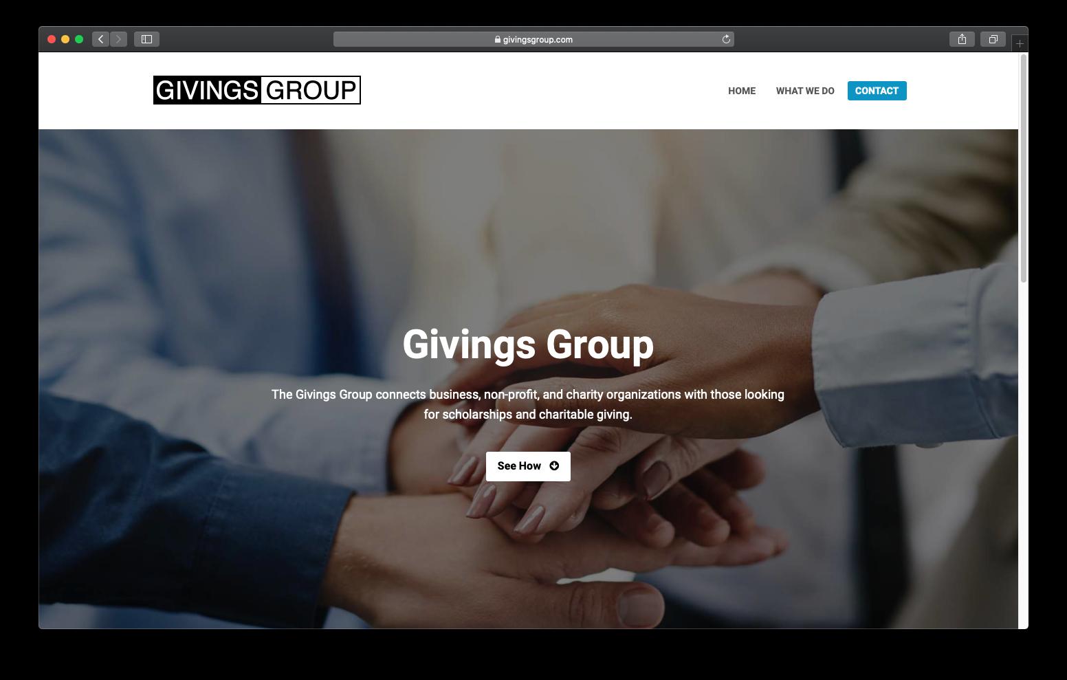 Sitio Web Givings Group